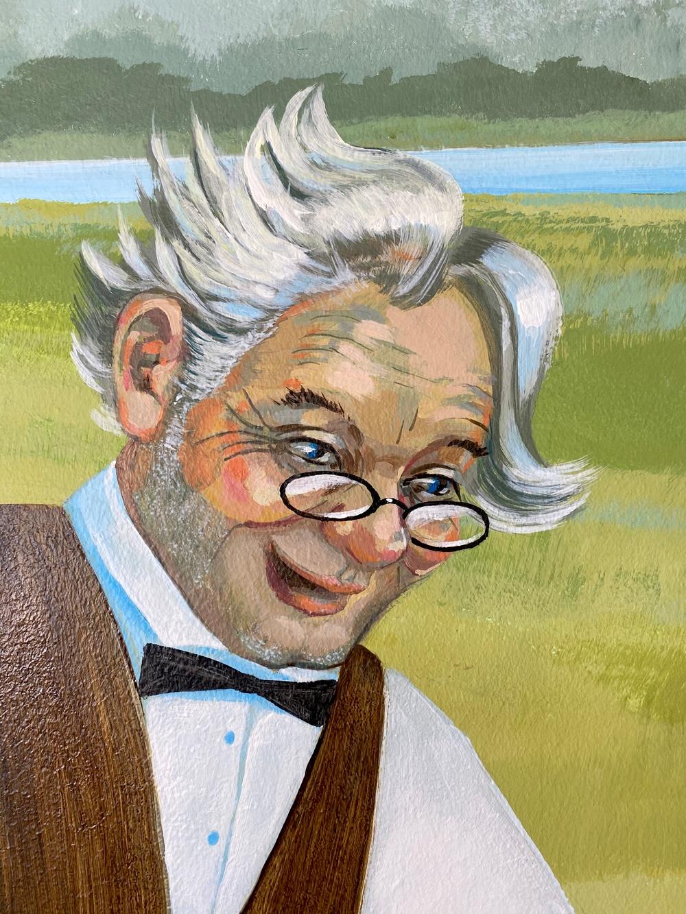 Mural old Man