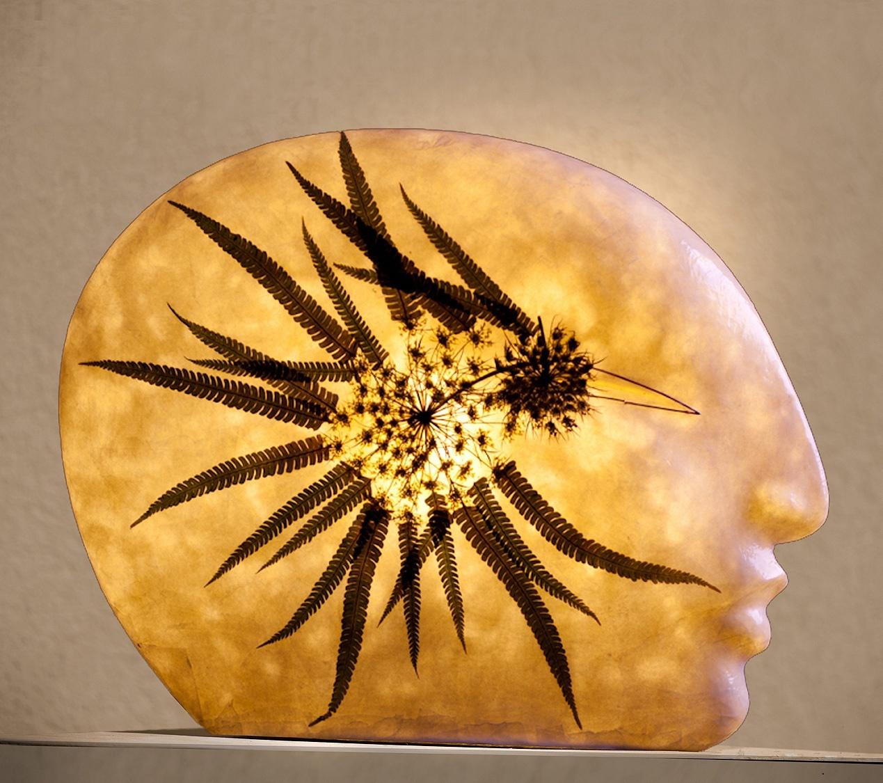 Lichtobjekt Lichtckulptur Kopf