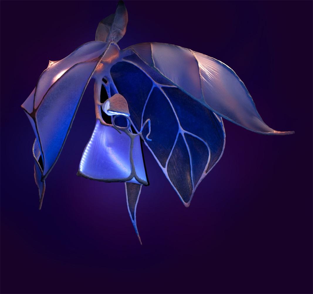 Orchidee Lampe Lichtobjekt
