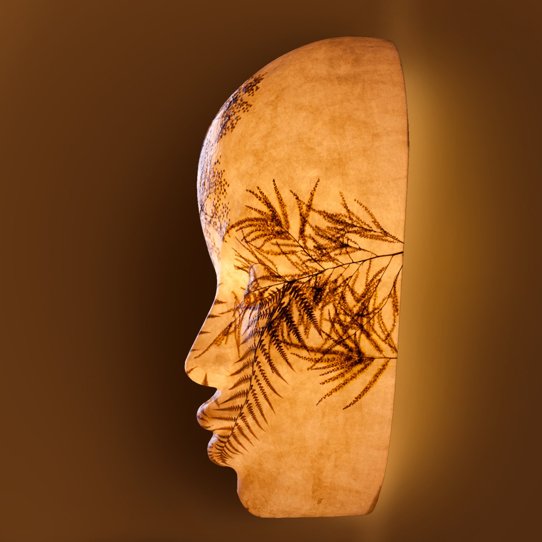 Lichtskulptur Ra Kopf