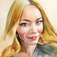 Aquarell-Portrait-Frau