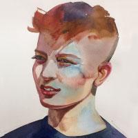 Aquarell-Portrait-Junge