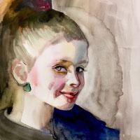 Aquarell-Portrait-Maedchen