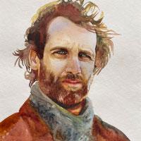 Aquarell-Portrait-Mann