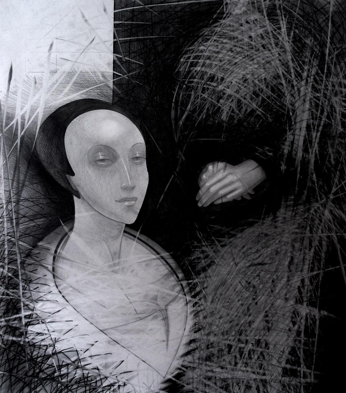 Die weiße Nonne Zeichnung