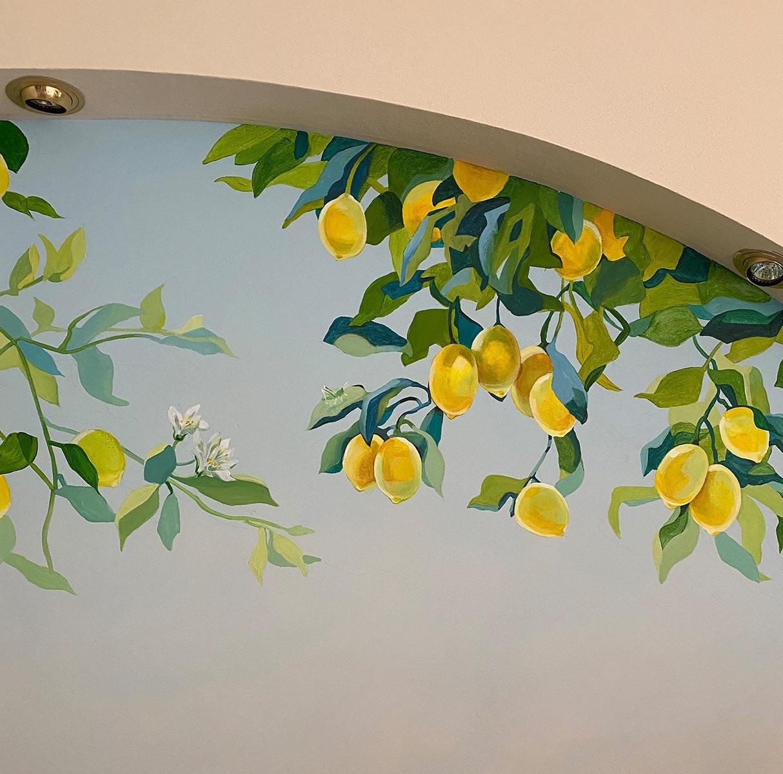 Zitronen Malerei
