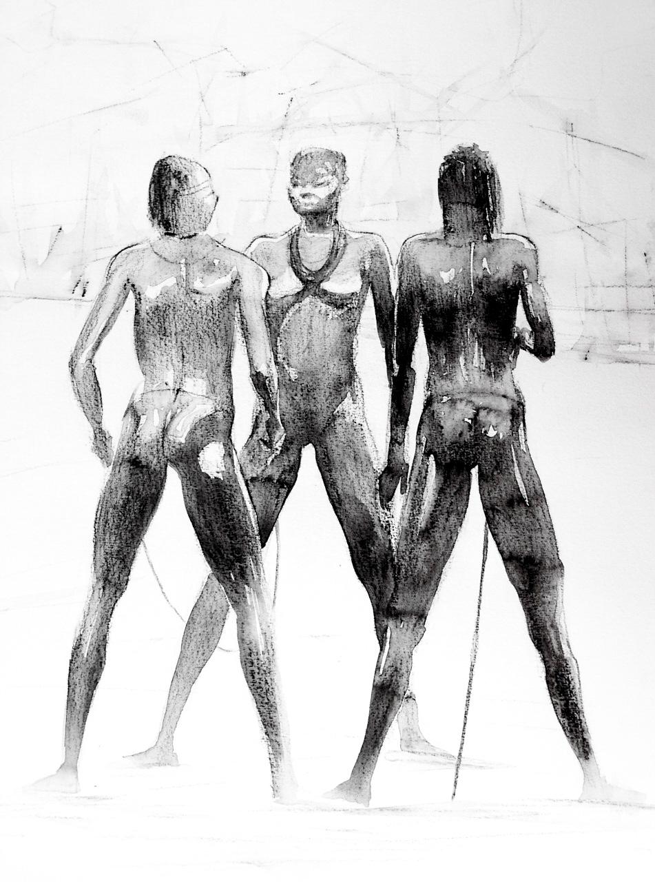 Trio Aquarell Bleistift