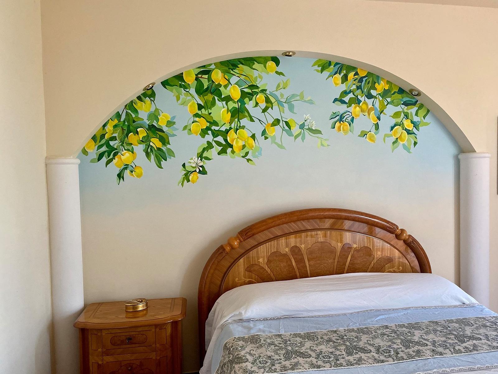Wandmalerei im Schlafzimmer