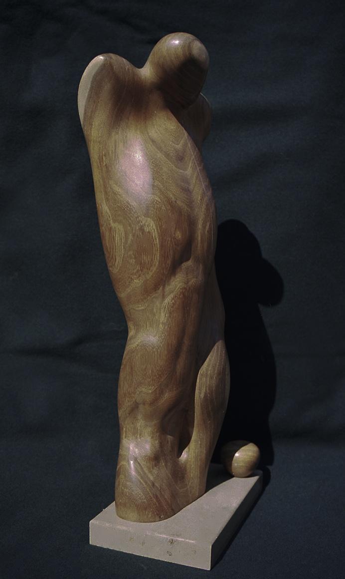 Holzskulptur Adam und Eva