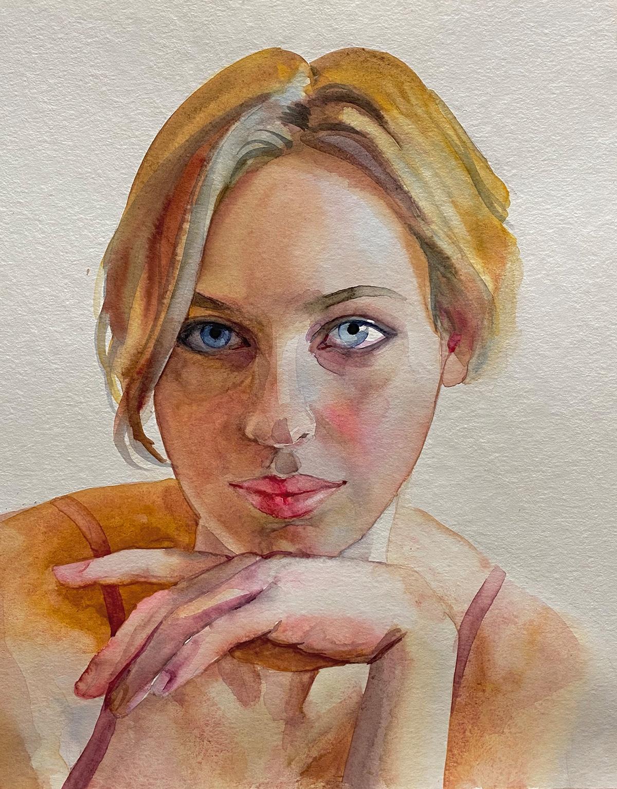 Aquarell Portrait Anna