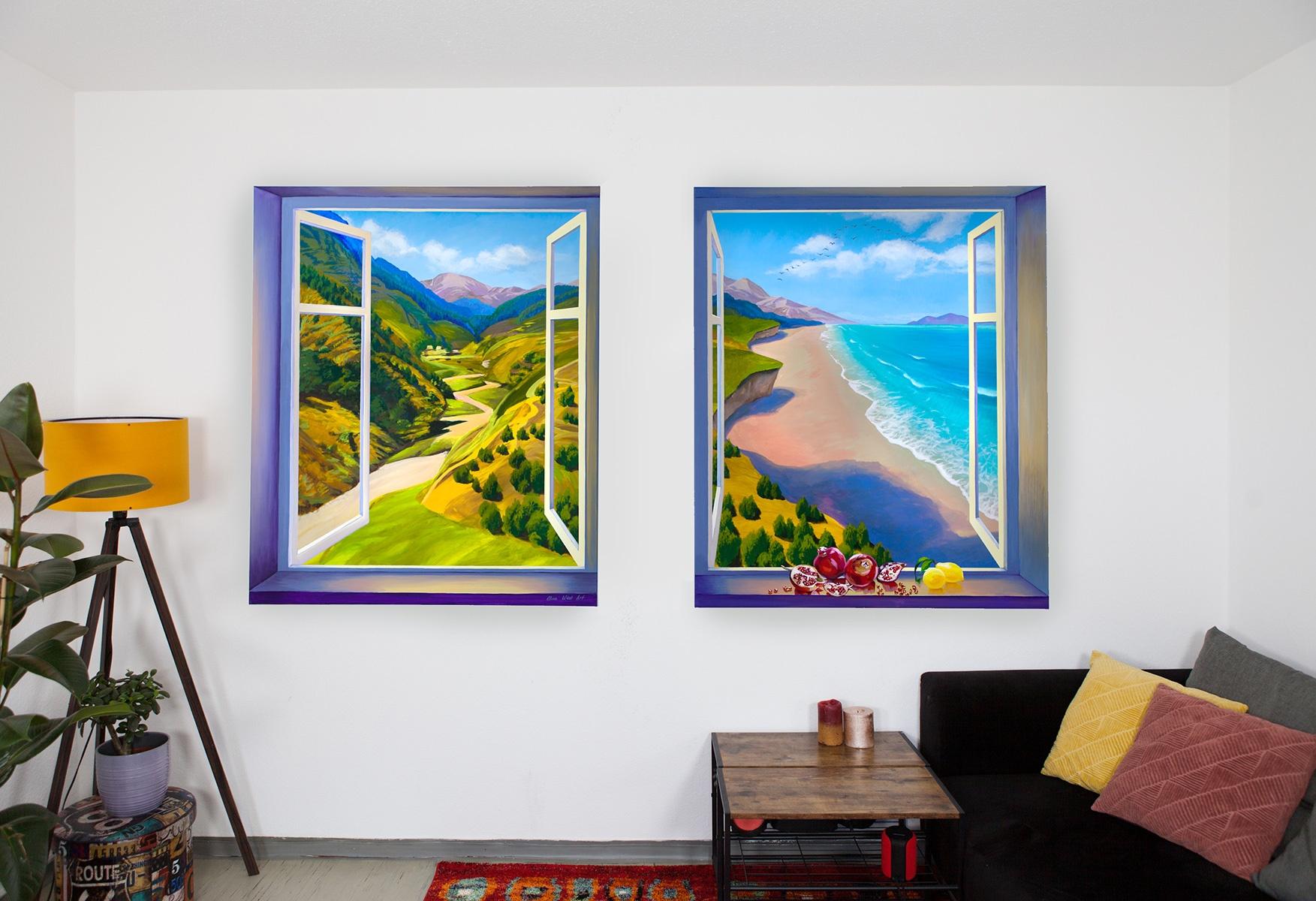 Fenster im Zimmer malen