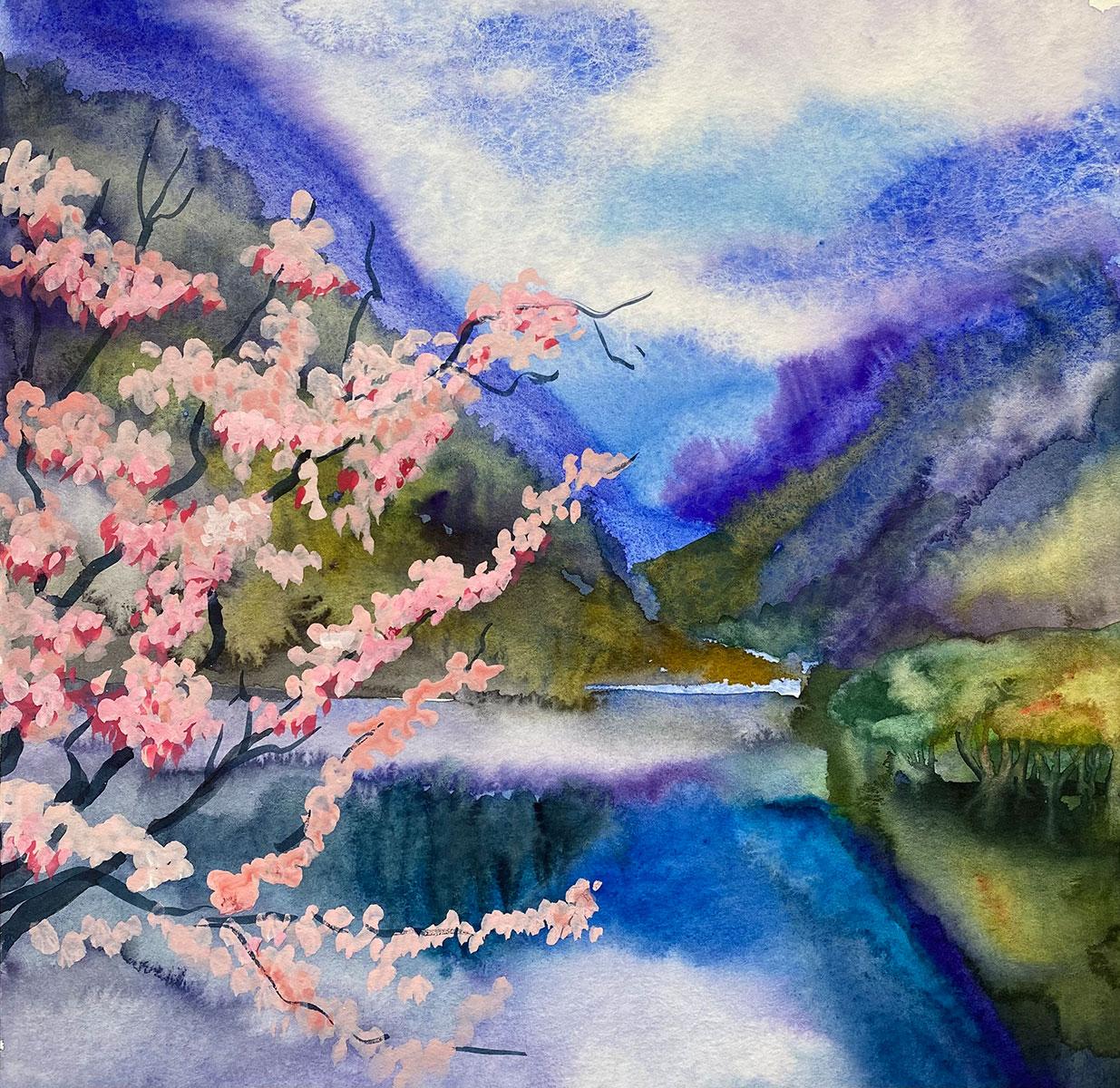 landscape watercolor